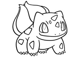 Покемоны бесплатная раскраска - 001 Бульбазавр