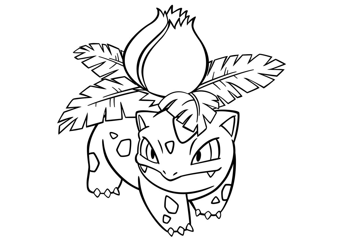 Раскраска 002 Ивизавр распечатать | Покемоны