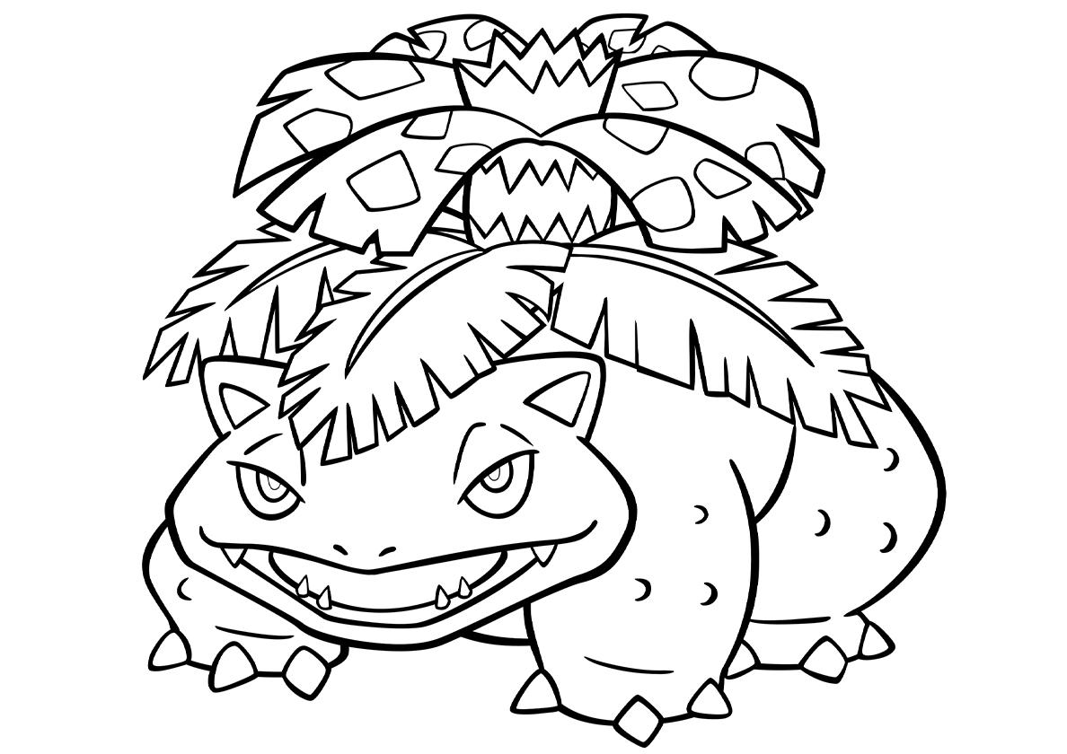 Раскраска 003 Венузавр распечатать | Покемоны