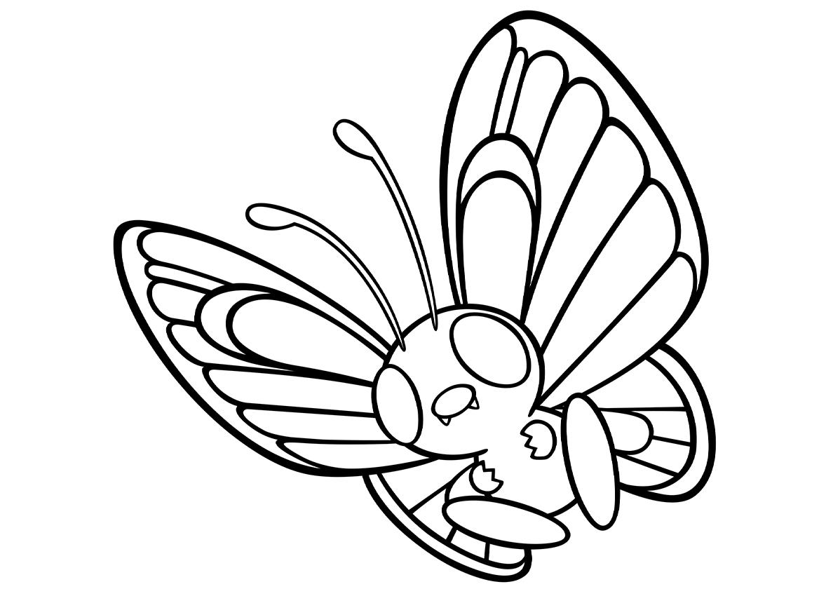 Раскраска 012 Баттерфри распечатать | Покемоны
