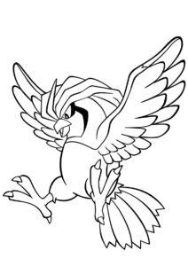 017 Пиджиотто (Покемоны) распечатать раскраску