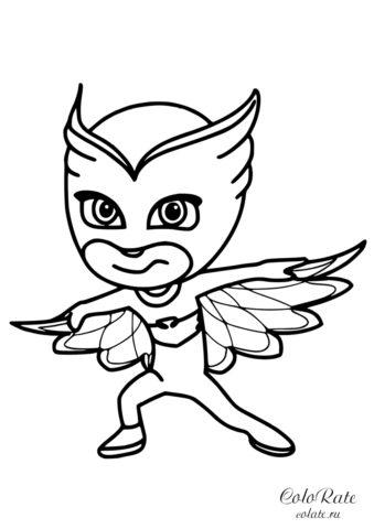 Аллет - разукрашка из мультика Герои в масках