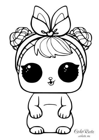 LOL раскраска - Питомцы - Американский кролик