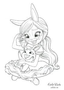 Энчантималс раскраска - Бри Кроля и Твист
