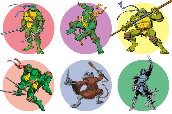 Черепашки-ниндзя - как раскрасить героев