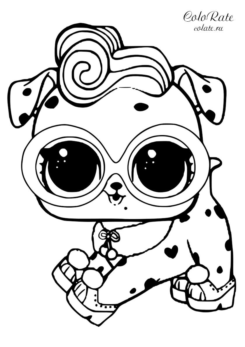 Раскраска LOL Pets Далматинец распечатать | Куклы ЛОЛ / L.O.L