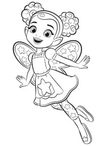 Дэззл - Кафе Баттербин - раскраска для девочек