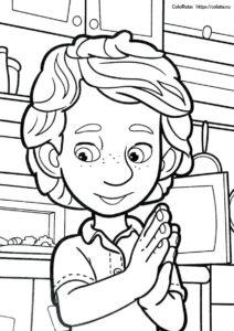 ДимДимыч в предвкушении - разукрашка из фиксиков для детей