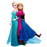 Ельза и Анна - распечатать раскраски для девочек