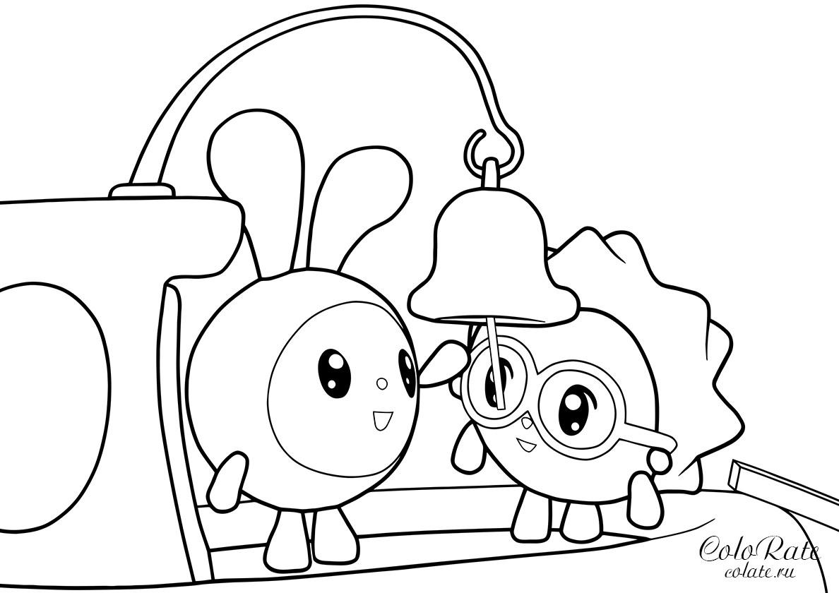 Раскраска Ежик и Крошик на корабле распечатать | Малышарики