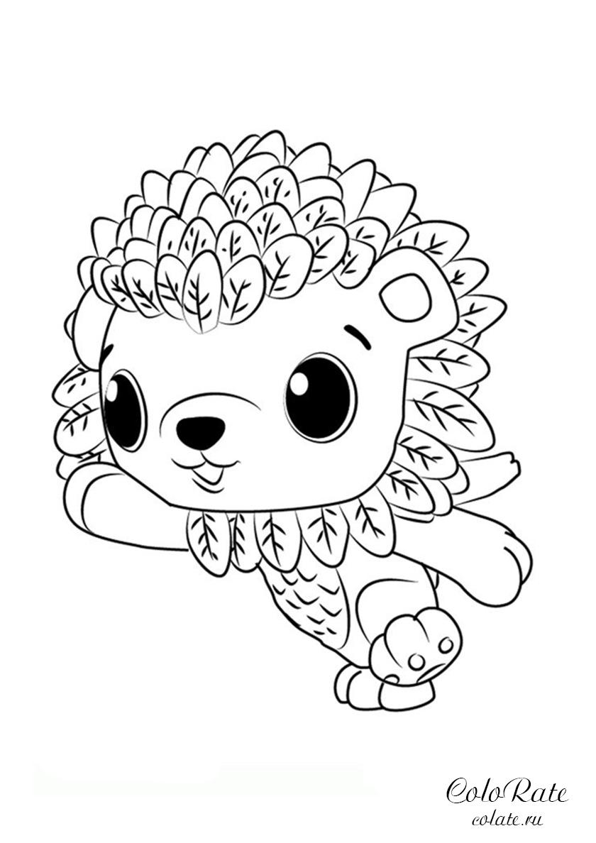 раскраска грозный львенок распечатать хетчималс