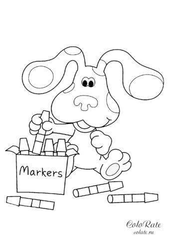 Игрушечный заяц с маркерами раскраска для детей