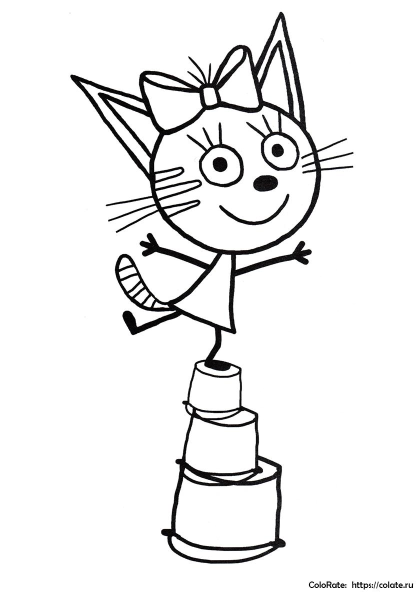 раскраски три кота распечатать бесплатно на листах формата а4