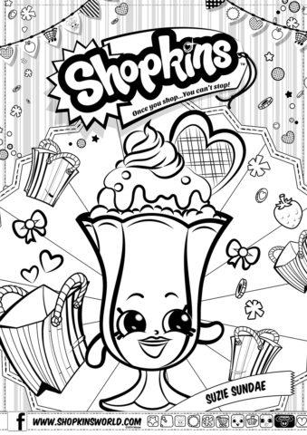 Шопкинс - Коктейль Сьюзи - раскраска бесплатно
