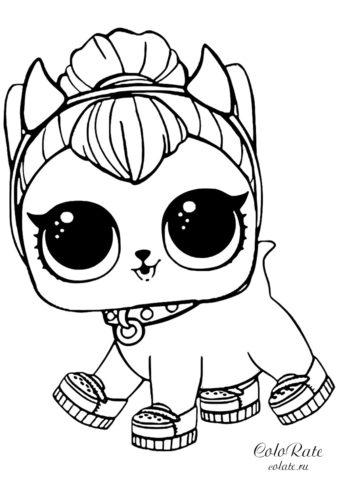 Раскраска LOL Pets Котенок Спайси скачать и распечатать