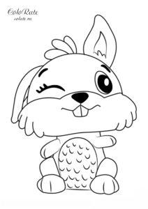 Кролик - разукрашка по серии игрушек Hatchimals