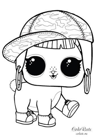 Кролик Хан - бесплатная раскраска питомца ЛОЛ
