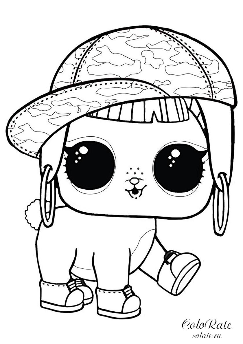 Раскраска Кролик Хан распечатать | Куклы ЛОЛ / L.O.L