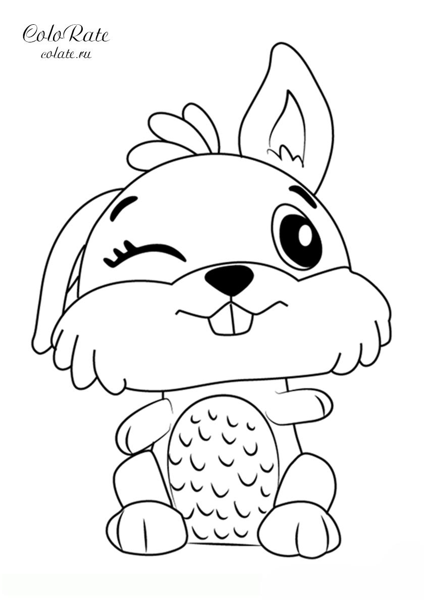 Раскраска Кролик распечатать | Майнкрафт