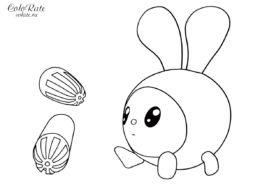 Крошик и фломастеры - разукрашка для малышей