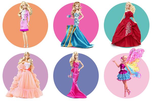 Несколько примеров раскрашивания кукол Барби