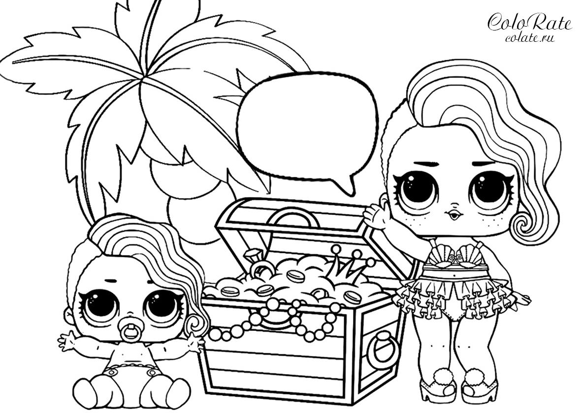 Раскраска ЛОЛ на пиратском острове распечатать | Куклы ЛОЛ ...
