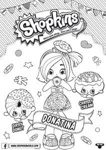 Кукольный клуб Шопкинс - раскраска с пупсом Донатиной