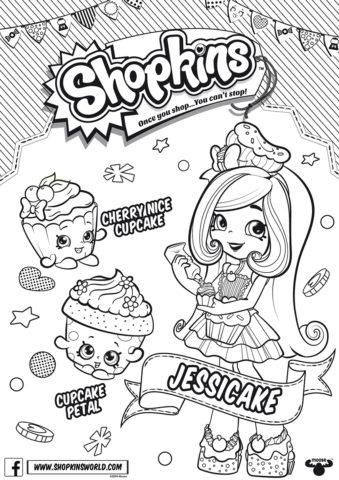 Джесси Кейк - раскраска - кукольный клуб Шопкинс