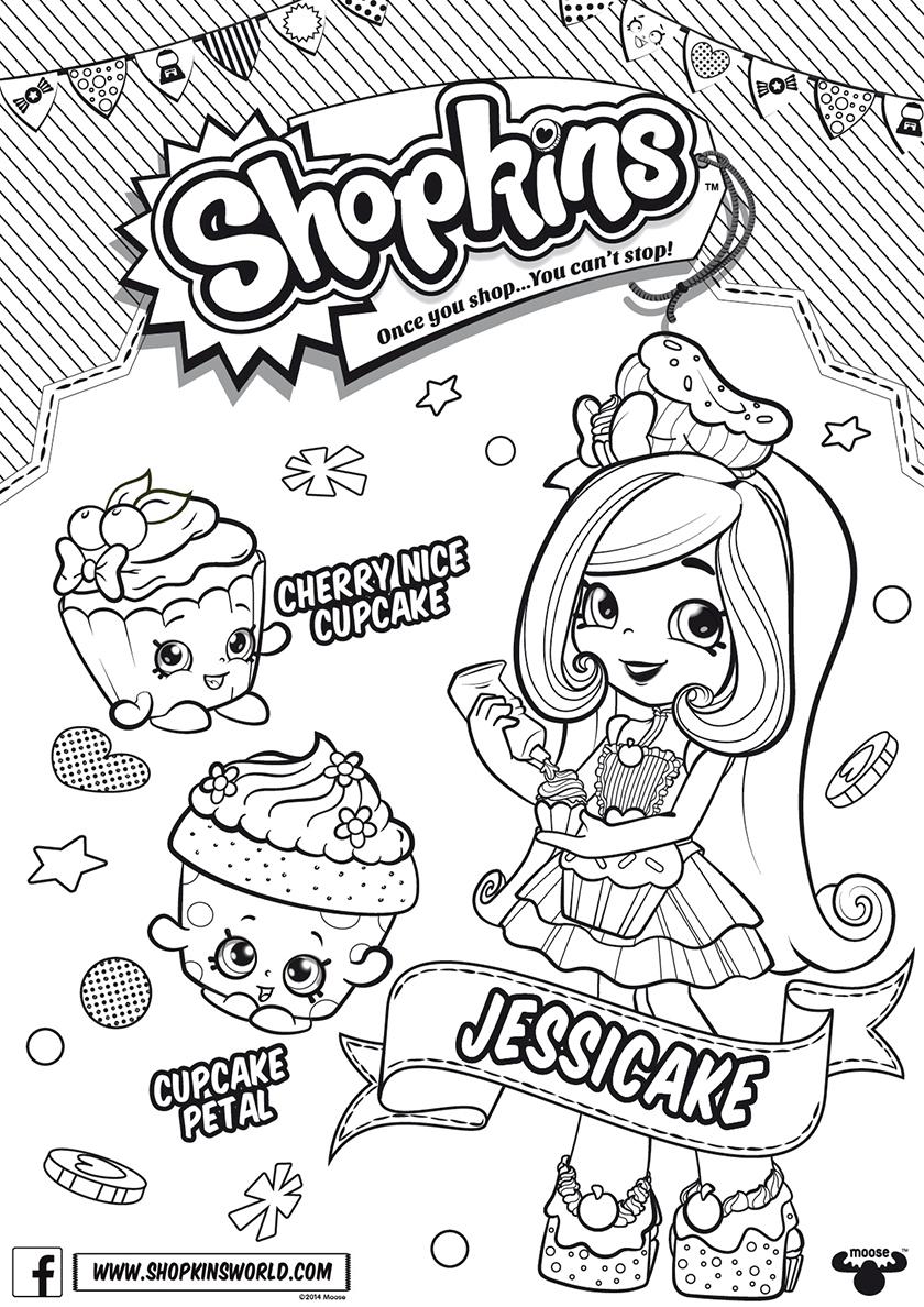 Раскраска Кукольный клуб - ДжессиКейк распечатать | Шопкинс