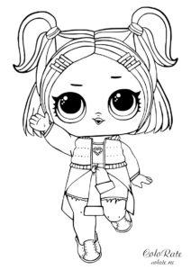 V.R.Q.T - разукрашка для девочек с куклой LOL