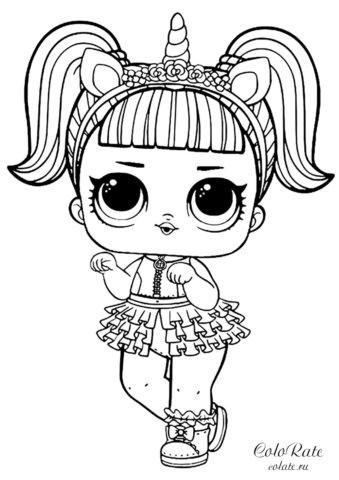 LOL Unicorn - Единорожка - раскраска для девочек