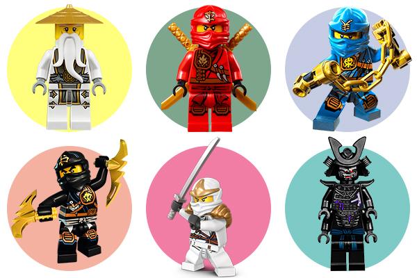 Lego Ниндзяго - герои мультфильма