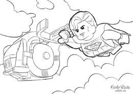 Раскраска с Суперменом LEGO