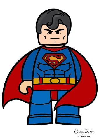 LEGO Супермен - как раскрасить