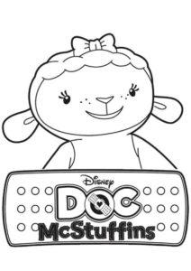 Лэмми улыбается - раскраска из мультфильма Доктор Плюшева