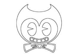 Лицо чернильного Бенди - бесплатная раскраска для детей
