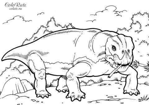 Листрозавр бесплатная раскраска для детей