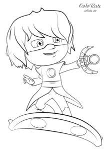 Раскраска Лунной девочки из Героев в масках скачать и распечатать