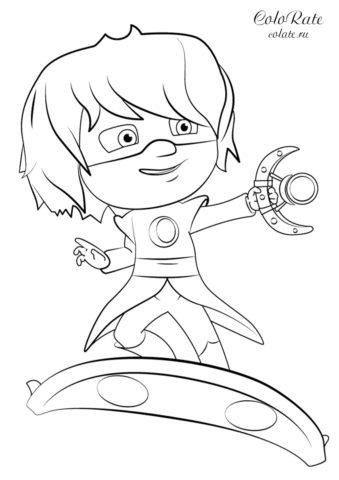 Раскраска Лунная девочка распечатать | Герои в масках