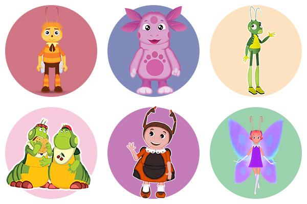 Лунтик и его друзья - раскрашиваем персонажей мультфильма