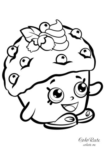Мини Маффин раскраска шопкинс на А4