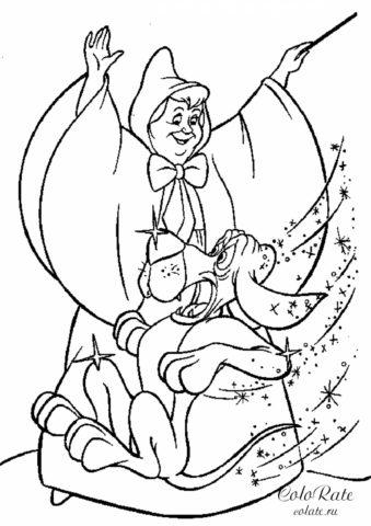 Фея-крестная колдует над псом Золушки