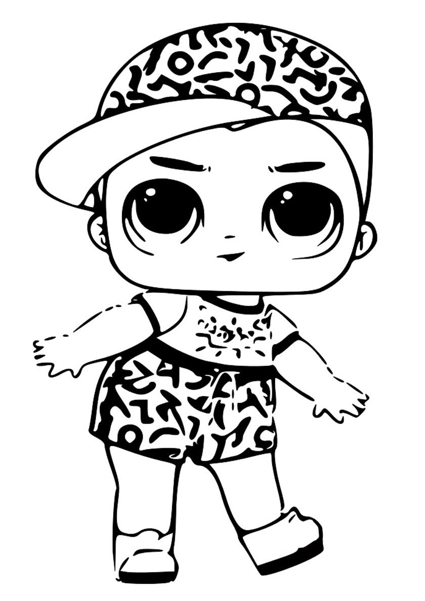 Раскраска Мальчик Скриббл распечатать | Куклы ЛОЛ / L.O.L