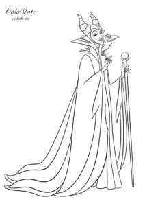 Малефисента - разукрашка по мультфильму Спящая красавица