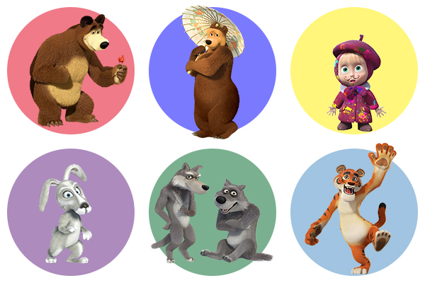 Маша и Медведь - герои мультфильма