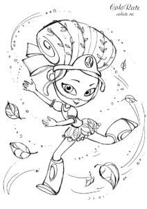 Маша использует магию - раскраска для девочек по мультикам