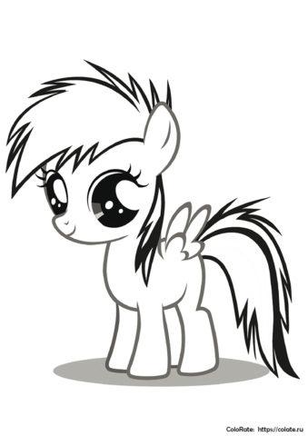 Раскраска Милашка Радуга Дэш распечатать | My Little Pony