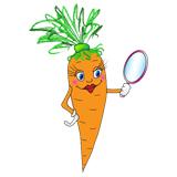 Бесплатные раскраски морковки распечатать