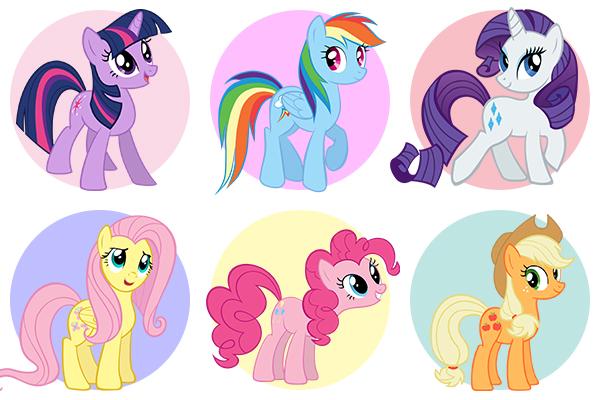 My Little Pony - как раскрасить героев