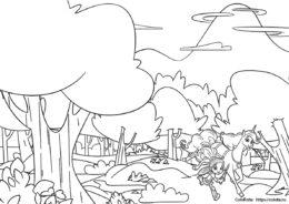 Раскраска для девочек - Нелла и Тринкет в лесной глуши